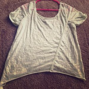 Green crop top Hurley
